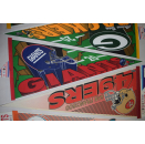 NFL Wincraft Wimpel Vintage 1994 Football Pennants Los Angeles Raiders Washington Redskins Green Bay Packers New York Giants San Francisco 49ers Miami Dolphins Chicago Bears