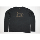 2 Lee Longsleeve Shirt Oberteil Top Black Gold Schwarz...