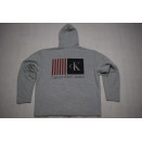 Calvin Klein Jeans Pullover Pulli Sweatshirt Sweater Kapuze Hoodie USA Flag XL