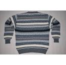 Strick Pullover Pulli Sweater Hipster Sweatshirt Vintage 90er Streifen 90s Italia L