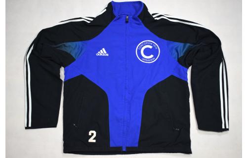 Adidas Trainings Jacke Sport Jacket  Track Top Soccer Jumper Mesh Casual Blau M