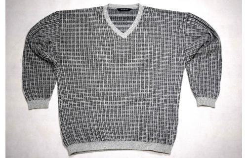 Strick Pullover Pulli Sweater Knit Sweatshirt Vintage Monello Grau 90s 52 ca M-L