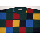 Strick Pullover Sweatshirt Sweater Knit Pullover 90s Vintage Graphik Casual M-L