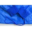 Adidas Trainings Jacke Sport Jacket Track Top Girls Vintage 70s Blau Frauen 38