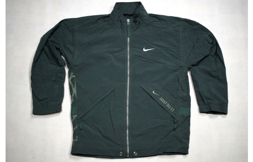NIKE Trainings Jacke Windbreaker Sport Jacket 90er Vintage Nylon Just Do It XS