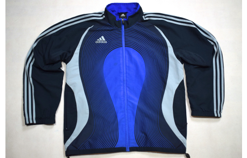 Adidas Trainings Jacke Sport Jacket  Track Top Soccer Mesh Casual Blau 2007 6 M