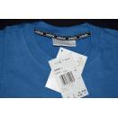 Adidas T-Shirt TShirt Vintage Deadstock 90er 90s Trefoil Blau Grafik Graphik M