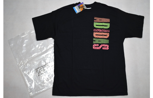 Adidas T-Shirt TShirt Vintage Deadstock 90er Trefoil NEON Grafik Graphik  S NEW