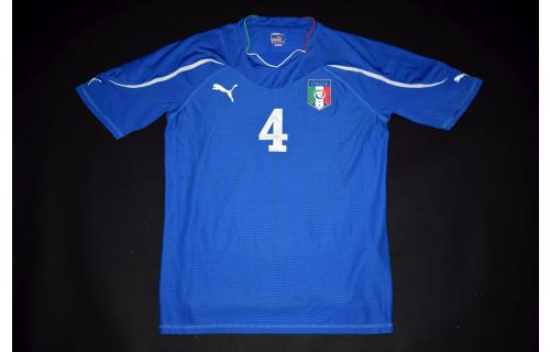 Puma Italien Trikot Jersey Maglia Camiseta Maillot Italia Italy Tifosi #4 Gr. XL