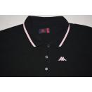 Kappa Polo Shirt Poloshirt Maglia Maillot Jersey Casual Rosa Pink Schwarz Gr. L