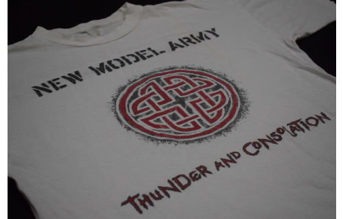 New Model Army T-Shirt Tunder and Consolation Post Punk Folk 1989 80s Vintage XL