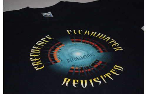 Creedence Clearwater T-Shirt Rock Tour Revisited Recollection 1998 Band Vintage XL