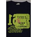 Calvin Klein T-Shirt TShirt Vintage Fashion Oldschoo Casual Train Tickets USA XL