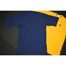 2x Adidas T-Shirt Top Vintage 90s 90er Sport Jogging Casual Gelb Blau Gr.  S-M