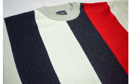 Strick Pullover Sweater Knit Sweat Shirt Vintage Strefen Graphik 90er 90s L-XL