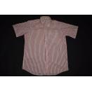 Lacoste Hemd Polo Kragen Business Geschäfts Hemden Nadelstreifen Rot Weiß 40