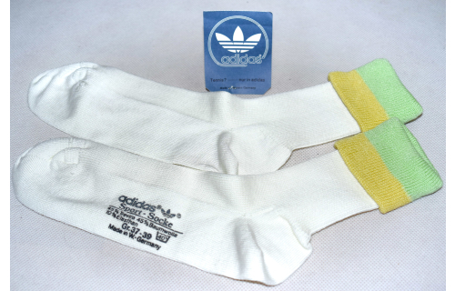Adidas Socken Socks Sox Plüsch Sport Vintage West Germany Hell Grün 37-39  NEU
