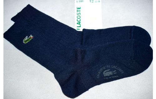 Lacoste Socken Socks Sox Sport Vintage Deadstock 80s 90s France Bleu Blau 37-38 NEU