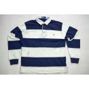 Polo Ralph Lauren T-Shirt TShirt Vintage Longsleeve Blau Weiß Streifen Stripes M