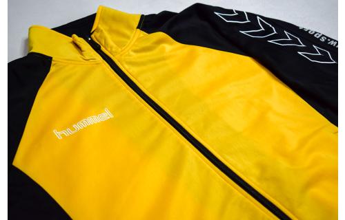 Hummel Trainings Jacke Track Top Sport Jacket Retro Oldschool Gelb Handball S