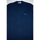 Fila Pullunder Pullover Sweater Tennis Vintage Strick Jumper Knit Casual 54 L-XL