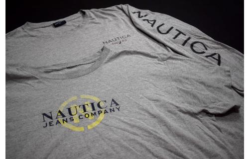2 Nautica Longsleeve T-Shirt Vintage Fashion Yachtig  Sailing NS 83 Grau XXL 2XL