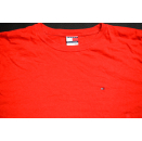 Tommy Hilfiger Longsleeve T-Shirt TShirt Vintage  Casual Clean Rot Red XXL 2XL