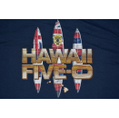 Hawaii 5-0 T-Shirt Five Tv Series Krimi Crime Surfing Surfboard Surf USA Blau L