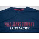 2x Polo Sport Jeans Ralph Lauren T-Shirt Spellout Longsleeve Vintage Kid M 12-14