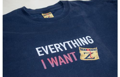 JERZEES Vintage T-Shirt TShirt Thrifting Nerds Fashion 90er Oldschool Spellout L