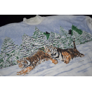 Tigers in the Snow Vintage Pullover Sweatshirt Sweater...
