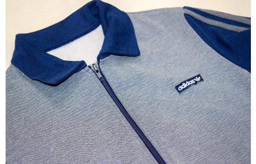 Adidas Trainings Jacke Sport Track Top Jacket Polo Kragen Vintage 70s 70er XS-S