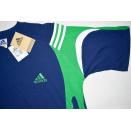 Adidas T-Shirt TShirt Vintage Deadstock Saronno Tee 90s 90er Blau 7 L NEU NEW