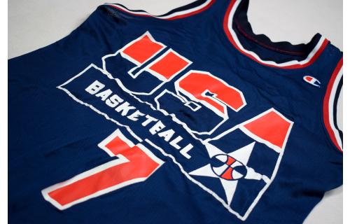 USA Olympia Trikot Jersey Camiseta Champion Basketball Vintage 90s Kemp 1994 40 M