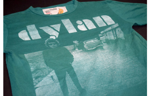 Bob Dylan T-Shirt Tour Folk Indie Rock Band The free Banana TShirt Grün L ca M-L