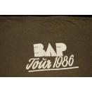 Bap 1986 T-Shirt Ahl Männer, aalglatt Tour Band Vintage Köln Niedecken 80er  L