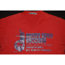 Native Drum Records T-Shirt Chicago Illinois Music Band Tour Sabotage Rot Red M