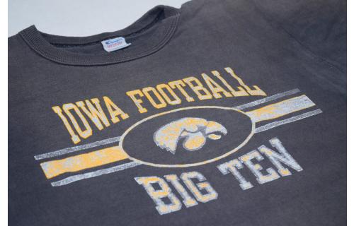 Champion Iowa Football Big TenT-Shirt Vintage 80s 80s 90s NCAA Disstressed USA M