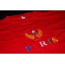 Robbler T-Shirt Tshirt Paris Vintage Fashion Designer Spellout France Rot ca. S