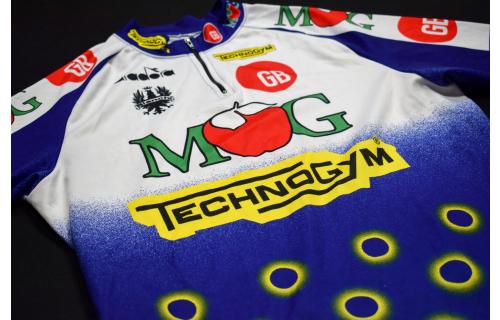 Diadora Fahrrad Rad Trikot Jersey Maillot Camiseta Maglia Bianchi MOG  6 ca L
