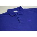 Adidas Polo Poloshirt T-Shirt Vintage Blau Blue Trefoil...