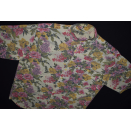 Hemd Button Down All Over Print Shirt Hawaii Bunt Blumen...