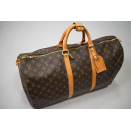 Louis Vuitton Keepall 55 Tasche Reise Gepäck Bag Monogram...