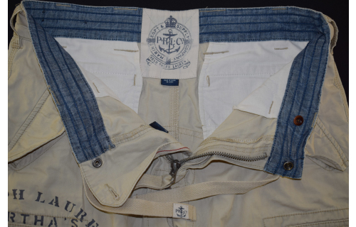 Polo Ralph Lauren Cargo Short Shorts kurze Hose Yachting  Jeans Sommer 31 ca M-L