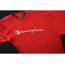 Champion T-Shirt Retro Sportswear Casual Style Rot Red...