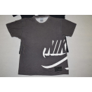 2x Nike T-Shirt Air Spellout Retro Big Logo Side Schwarz...