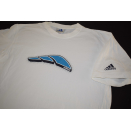 Adidas T-Shirt TShirt Vintage 2001 Aqua Three Stripes...
