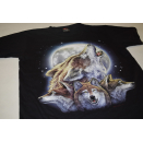 Vintage T-Shirt Animal Print Wolf Wolves Nature Graphics...