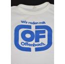 Offenbach T-Shirt Wir reden mit Vintage Promo TShirt 80er 70s Weiß White OF XS-S
