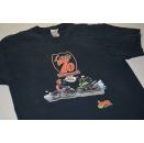 Moto Mania T-Shirt Character Vintage VTG Comic Louis 70...